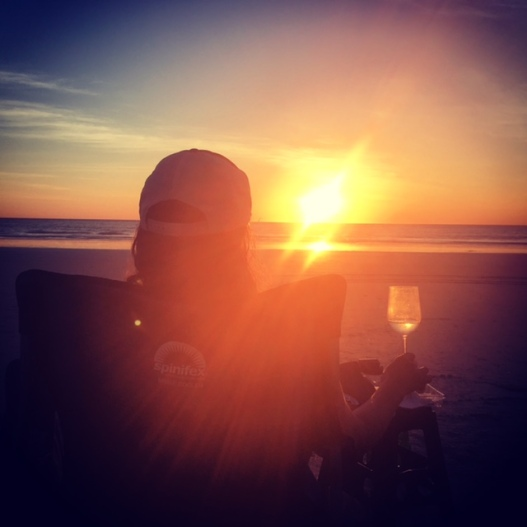 Cable beach sunset and wine