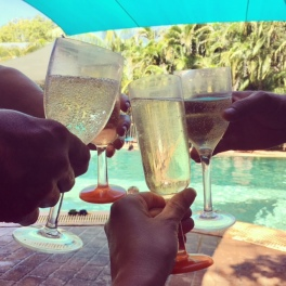 Poolside champers